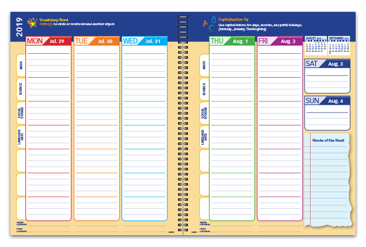 elementary student planners