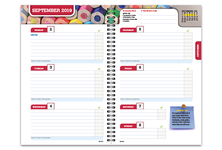 high school student planners
